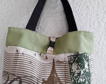 """Paris"" green girl bag"