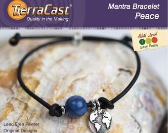 TierraCast DIY Peace Mantra Bracelet Quick Kit