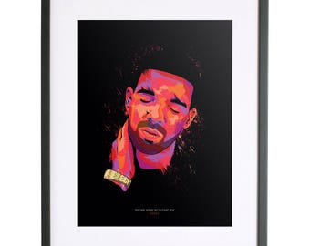 Drake 'Everybody dies but not everybody lives' Print
