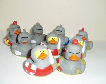 3 Medieval/Knight rubber ducks.- perfect for bride-to-be shower favors