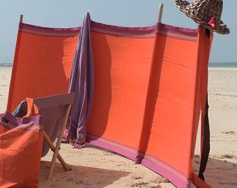 Kikoy Cotton Windbreak - Mango Orange
