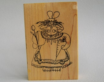 Large Bunny Rabbit Rubber Stamp Spring Easter Imaginations