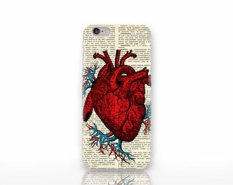 Anatomy heart iPhone X case-anatomy iPhone 8/8 Plus-anatomy iPhone 7/7 Plus-iPhone 6/6 Plus-iPhone 5/5S-Galaxy case-Huawei case-NP3D212