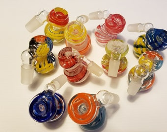 A GLASS Smoking colorful  Adapter Bowl Standard Slider 14mm