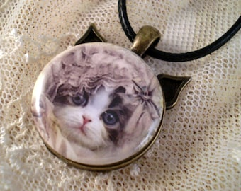 Cat Necklace, Cat Jewelry, Gift for Her, C.L.A.W.S. Charity, Cat Pendant, Gift for Cat Lover