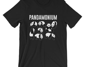 Funny Fighting Panda Pandamonium Gift T-shirt