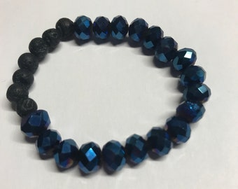 Deep Blue Sea Bottom Mermaid Queen Essential Oil Diffusing Bracelet