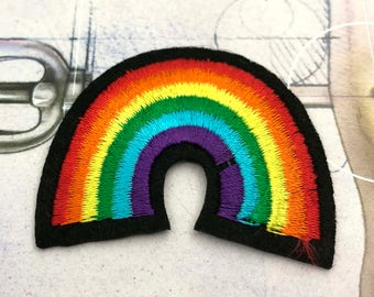 Colorful Rainbow Embroidered  Iron On Patch Applique CR011618