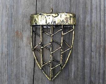 Large, Welded Arrowhead Pendant