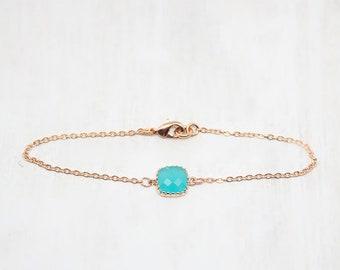 Bracelet Rosegold Mint Turquoise