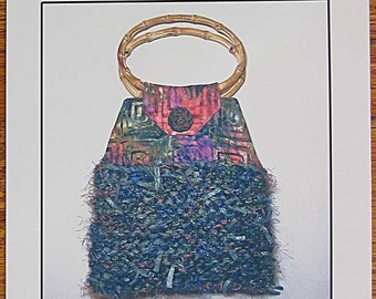 Earthknits eco-purse Pattern No. 890 by Thistledown & Co., Purse Made with Batting Scraps, Upcycling