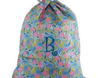 Paisley Laundry Bag, monogram laundry bag, personalized laundry, laundry, laundry basket, drawstring bag, personalized, monogrammed
