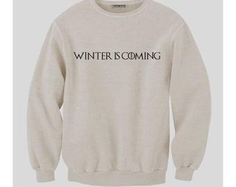 Winter Is Coming Sweatshirt (White)