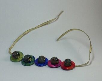 Colorful beaded washer bracelet