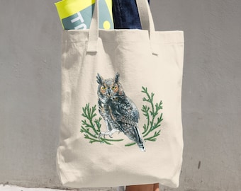 Great Horned Owl Canvas Tote Bag