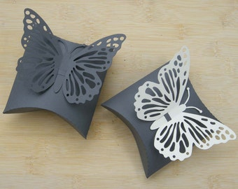 Pillow Box & butterfly - SVG cutting file for electronic cutting machine