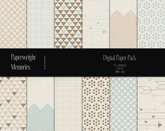 Harvest Gold - digital patterned paper - Instant Download -  digital scrapbooking - patterned paper, textured paper - Commercial use