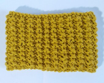 Yellow ochre acrylic wool headband