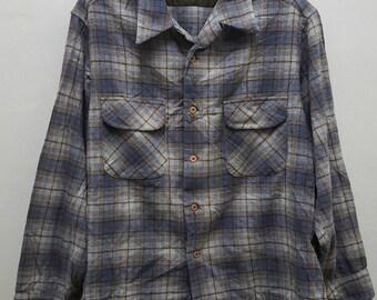 Vintage rare Pedleton wooded mills pure virgin wool button downs shirt