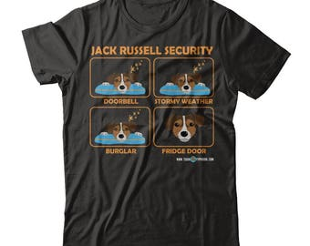 Funny Jack Russell Terrier Shirt   Jack Russell Security   A really funny gift for Jack Russel owners