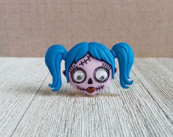 Skull - Zombie Girl - Halloween - Skeleton - Sugar Skull - Lapel Pin