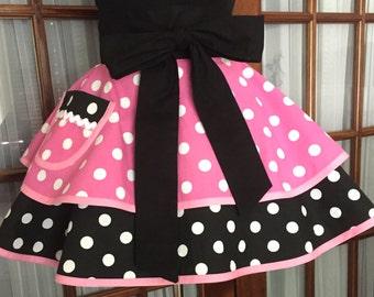 Minnie Mouse Inspired Apron Polka Dot Apron Retro Apron Flirty Apron Gift for Her
