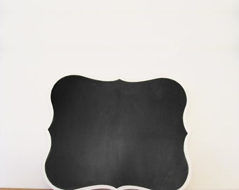 Decorative Chalkboard, Scalloped Edge Chalkboard, Menu Board, Blackboard, Chalk Board Candy Table, Wedding Decor, Event Decor