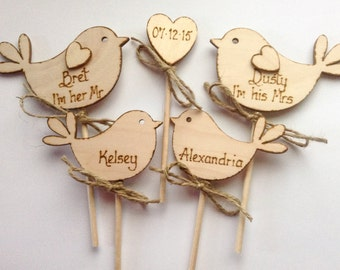 Family Wedding Cake Topper Bird Cake Topper Family cake Topper Personalized cake topper,