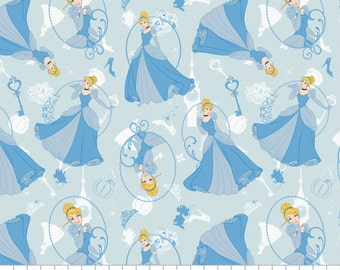 Disney Princess Cinderella  Camelot Cotton Woven by the yard