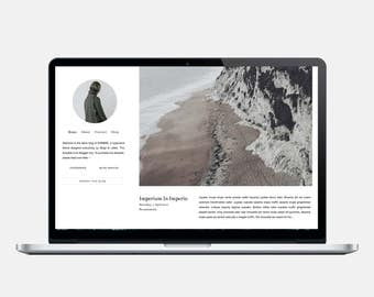 SOMBRÉ - Responsive Blogger Theme - Sticky Scrolling Sidebar, Tumblr Style Blogger Theme