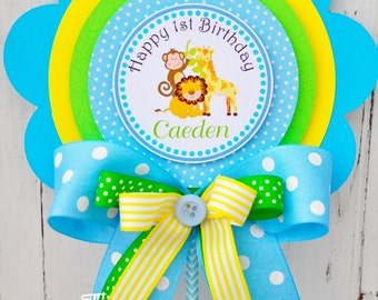 Safari Birthday Centerpiece, Deluxe Party Centerpiece, Safari Baby Shower, Jungle Safari Party Centerpiece