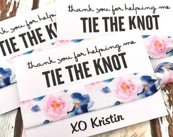 Hair Tie Bridesmaid Gift | Floral Hair Tie Favor Bracelets, Bridal Shower,  Bridesmaids Gift, Bachelorette Hair Tie Favors