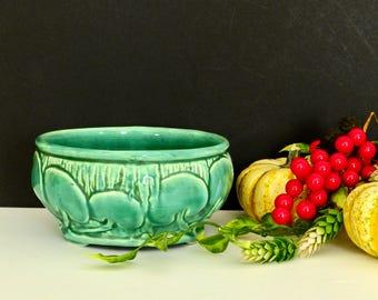 Weller Pottery Lily Pad Bowl- Blue Green Glaze