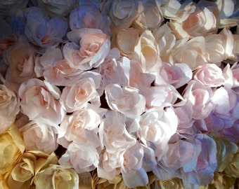 Paper Roses (12) / Paper Flowers (12) / All Natural Organic Paper Flowers / One Dozen Paper Roses with Stems