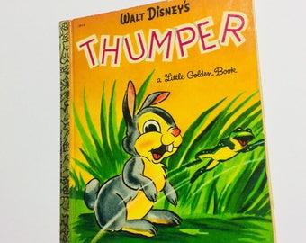 Disney Vintage Thumper Repurposed Little Golden Book Planner/Sketchbook/Journal/Autograph Book/Notebook Bambi
