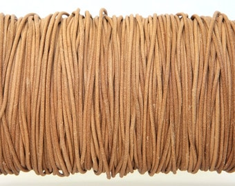 Natural Color Greek Leather Cord 1.5 mm Diameter (Length: 5 Yards)