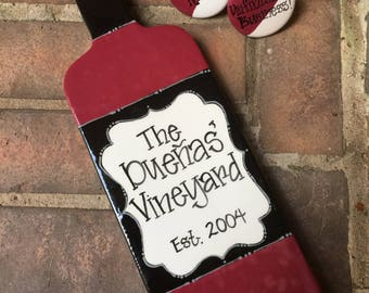 Personalized Wine Bottle Cheese Tray