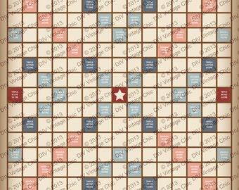 Scrabble Board - Printable JPG file