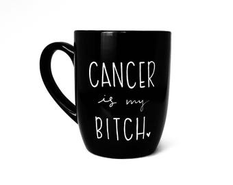 Cancer Gift | Large Mug | Upcycled Mug | Quote Mug | Gift Idea | Ceramic Coffee Tea Mug | Recovery Gift | Father's Day Gift