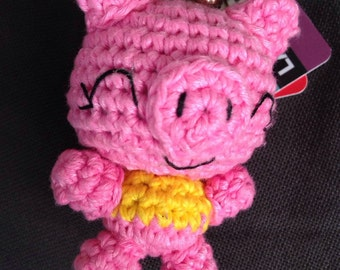 Amigurumi Keychain, animal, pig