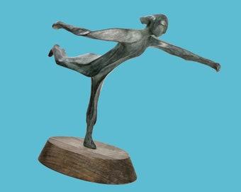 The Runner - bronze sculpture of an athlete running