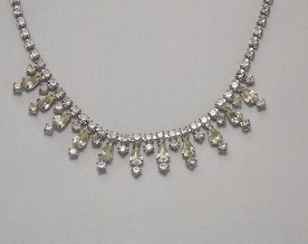 Vintage Rhinestone Choker Necklace for Bride, Bridesmaid or Prom