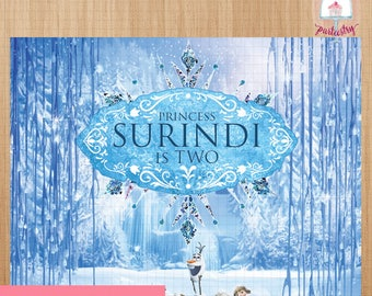 Frozen Backdrop Banner - Printable Backdrop Banner (v.3)