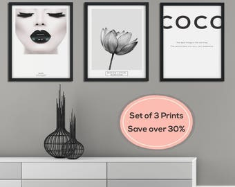 Wall Art Print, Black and White, Prints, Set of Prints, Scandinavian Print, Minimalist Print, Minimalist Wall Art, Print Set, Scandinavian