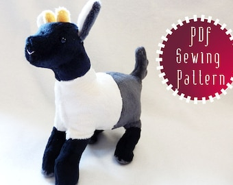 Pygmy Goat plush pattern stuffed animal sewing PDF