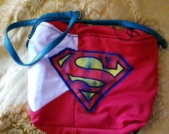 Super Man Up-cycled purse