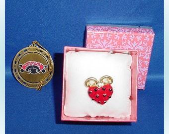Ladybug Vintage Brooch Pin and Ornament