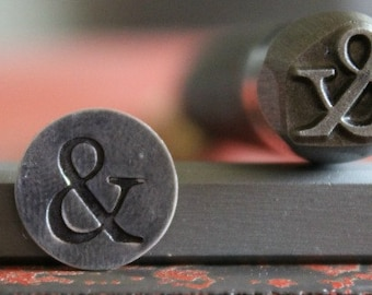 Advantage Series Ampersand Metal Design Stamp - Made In The USA - Available In 3 Different Sizes - For use on Stainless Steel- SGAD-53