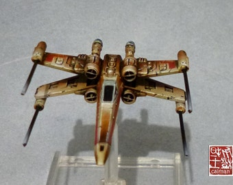 X wing,Vaisseau Star Wars, pro painting.