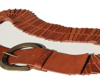 Belt snake in hand-made leather